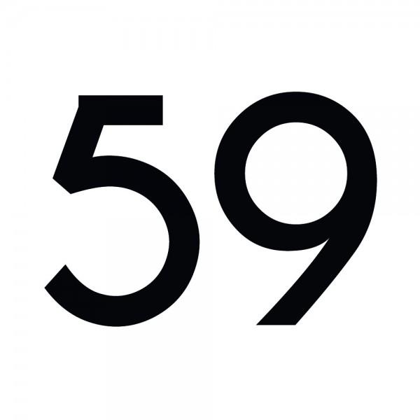 Zahlenaufkleber 59 schwarz