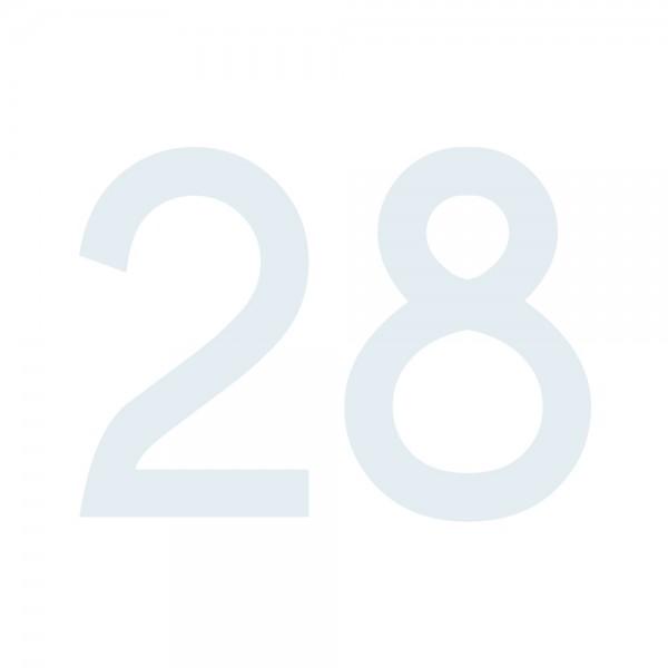 Zahlenaufkleber 28 weiß
