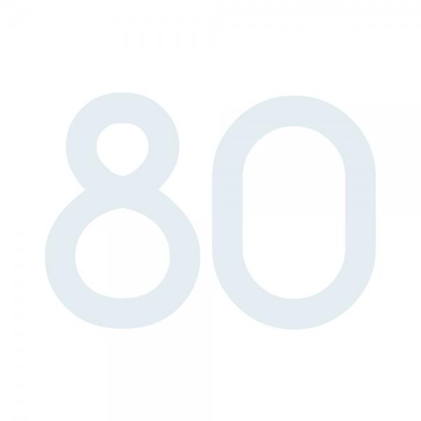 Zahlenaufkleber 80 weiß