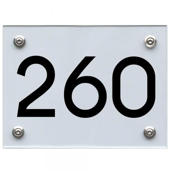 Hausnummernschild 260 schwarz