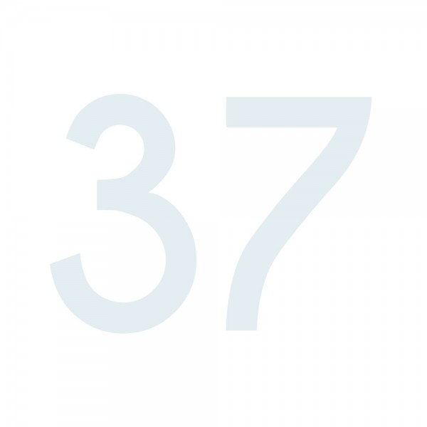 Zahlenaufkleber 37 weiß