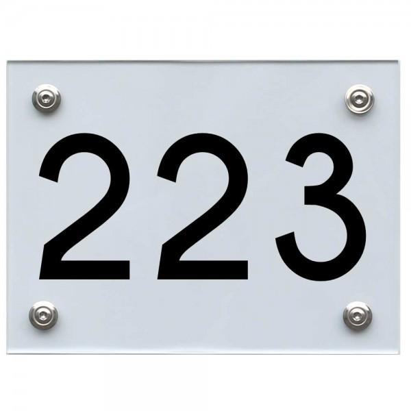 Hausnummernschild 223 schwarz