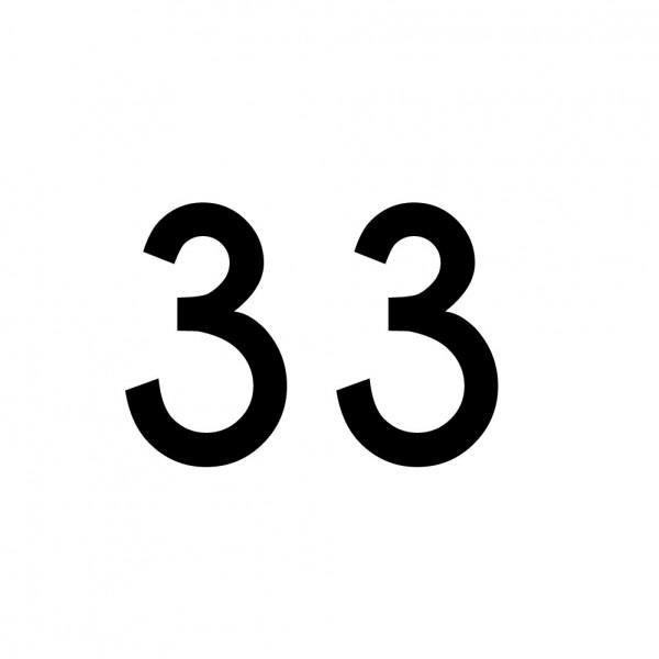 Hausnummer Aufkleber 33 schwarz