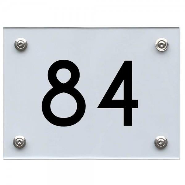 Hausnummernschild 84 schwarz