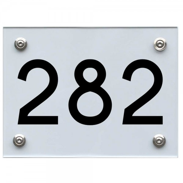 Hausnummernschild 282 schwarz