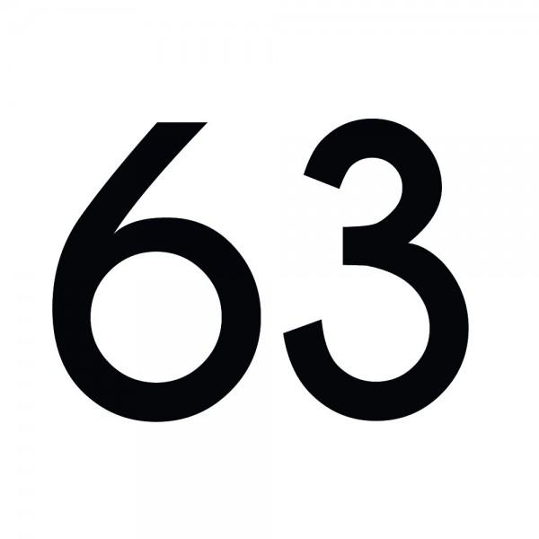 Zahlenaufkleber 63 schwarz