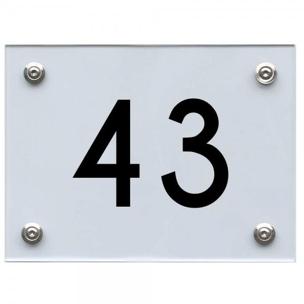 Hausnummernschild 43 schwarz