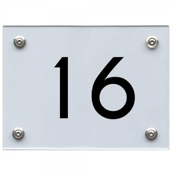 Hausnummernschild 16 schwarz