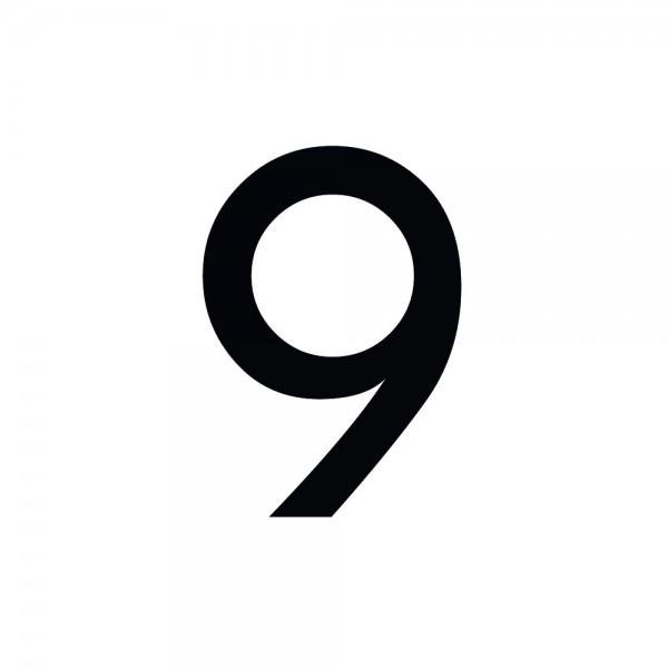 Zahlenaufkleber 9 schwarz