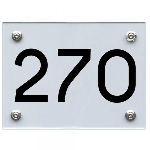 Hausnummernschild 270 schwarz