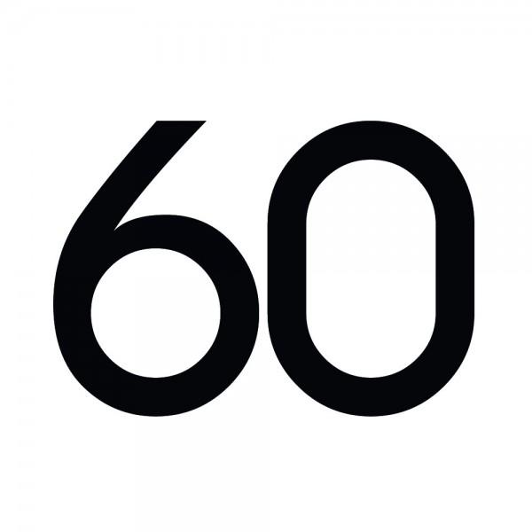 Zahlenaufkleber 60 schwarz
