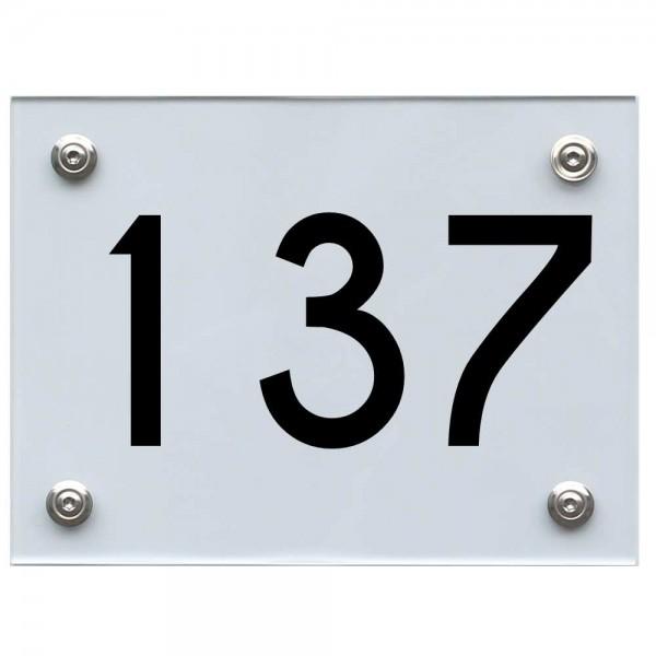 Hausnummernschild 137 schwarz