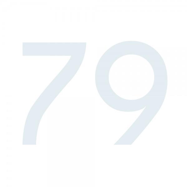 Zahlenaufkleber 79 weiß