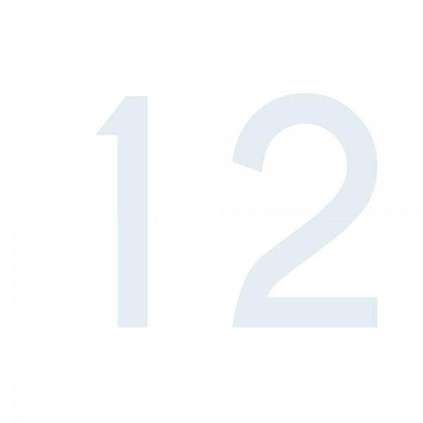 Zahlenaufkleber 12 weiß