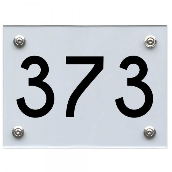 Hausnummernschild 373 schwarz