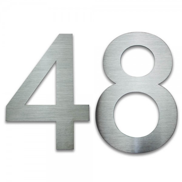 Hausnummer Edelstahl 48