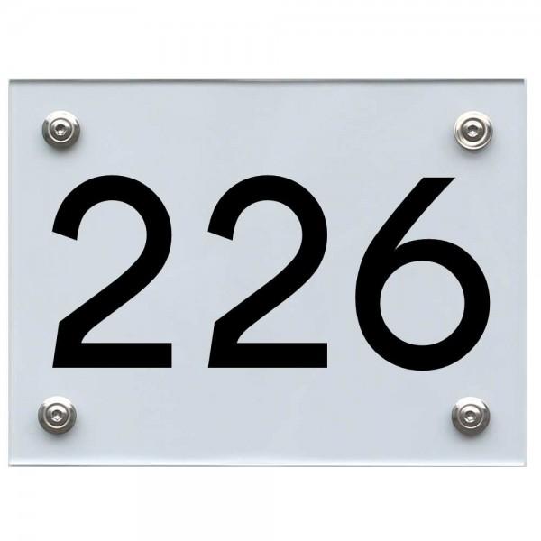Hausnummernschild 226 schwarz