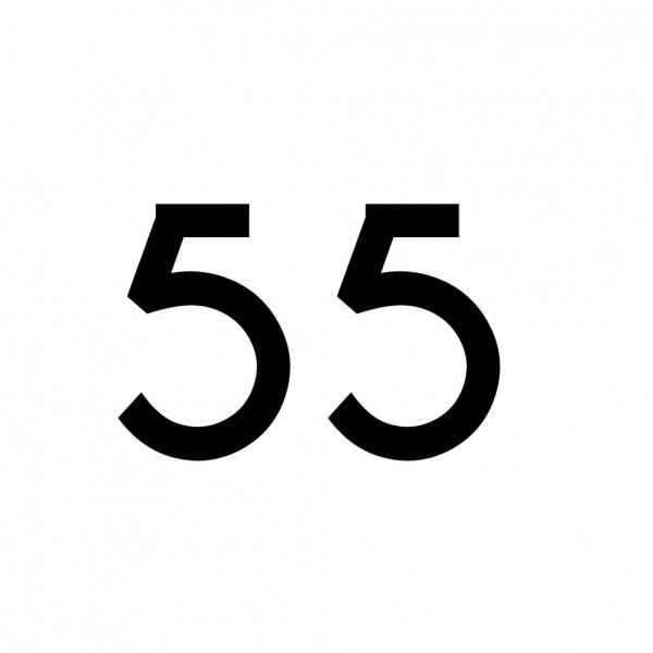 Hausnummer Aufkleber 55 schwarz