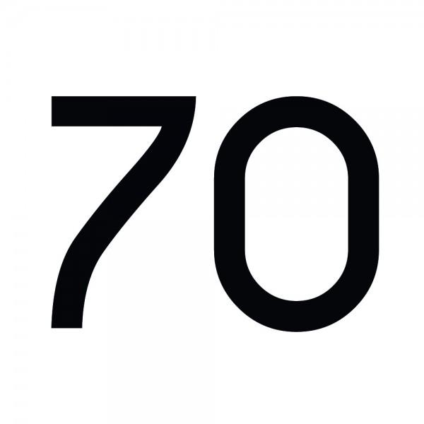 Zahlenaufkleber 70 schwarz