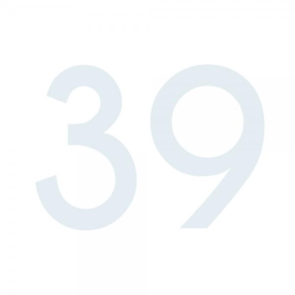 Zahlenaufkleber 39 weiß
