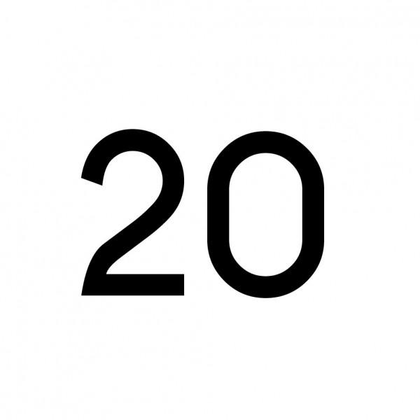Hausnummer Aufkleber 20 schwarz
