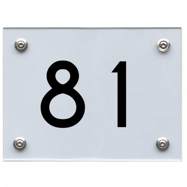 Hausnummernschild 81 schwarz