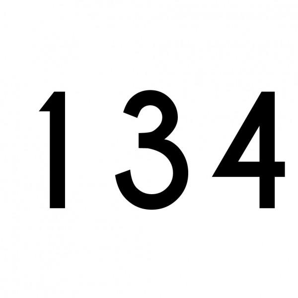 Hausnummer Aufkleber 134 schwarz
