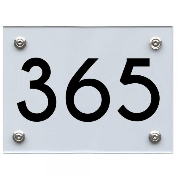 Hausnummernschild 365 schwarz