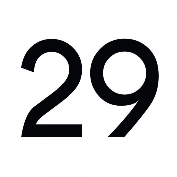 Zahlenaufkleber 29 schwarz