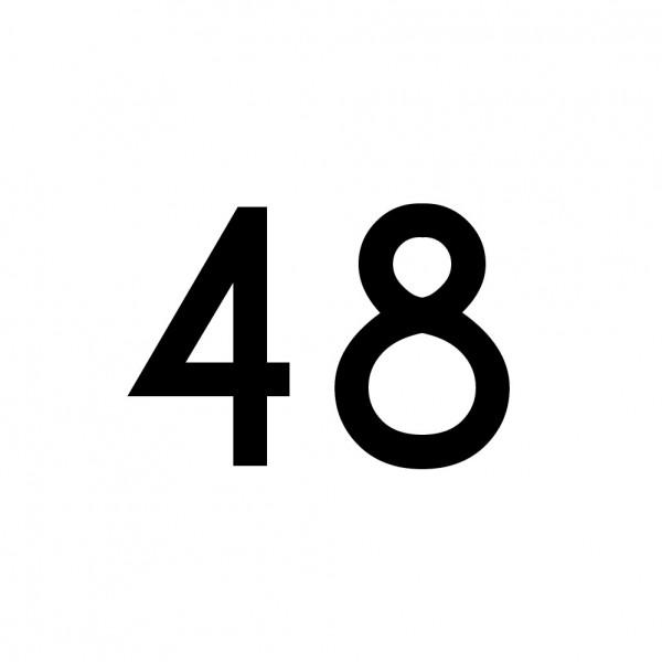 Hausnummer Aufkleber 48 schwarz