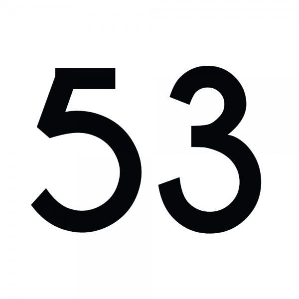 Zahlenaufkleber 53 schwarz