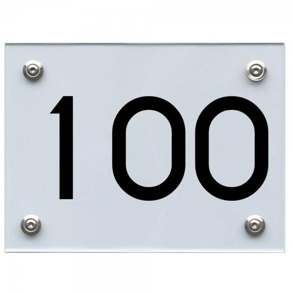 Hausnummernschild 100 schwarz