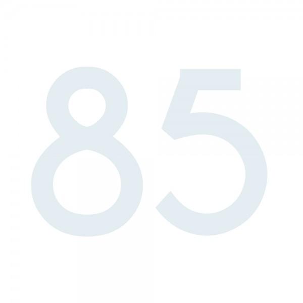 Zahlenaufkleber 85 weiß