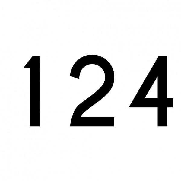 Hausnummer Aufkleber 124 schwarz