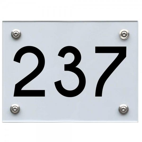 Hausnummernschild 237 schwarz