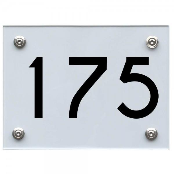 Hausnummernschild 175 schwarz
