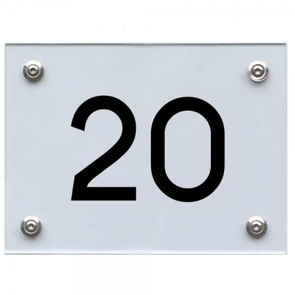 Hausnummernschild 20 schwarz