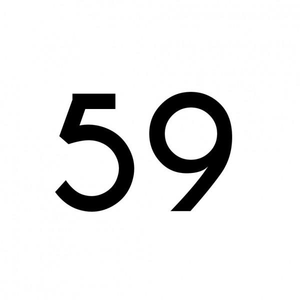 Hausnummer Aufkleber 59 schwarz