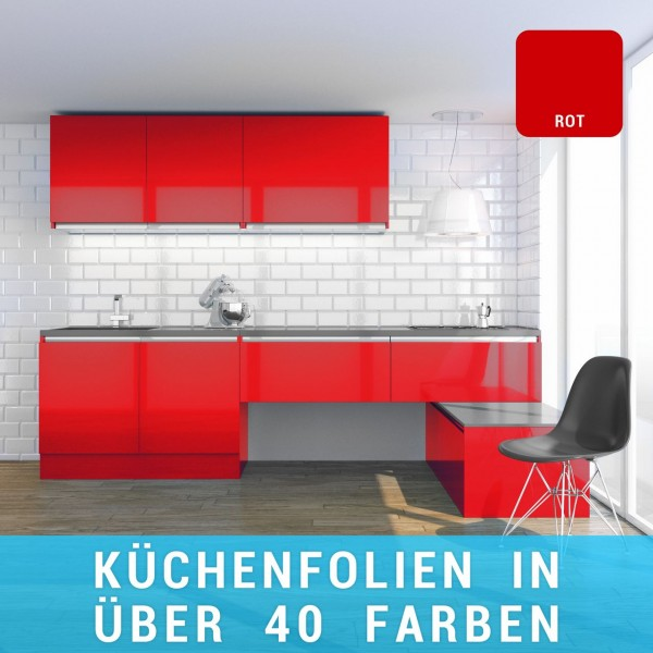 Küchenfolie rot