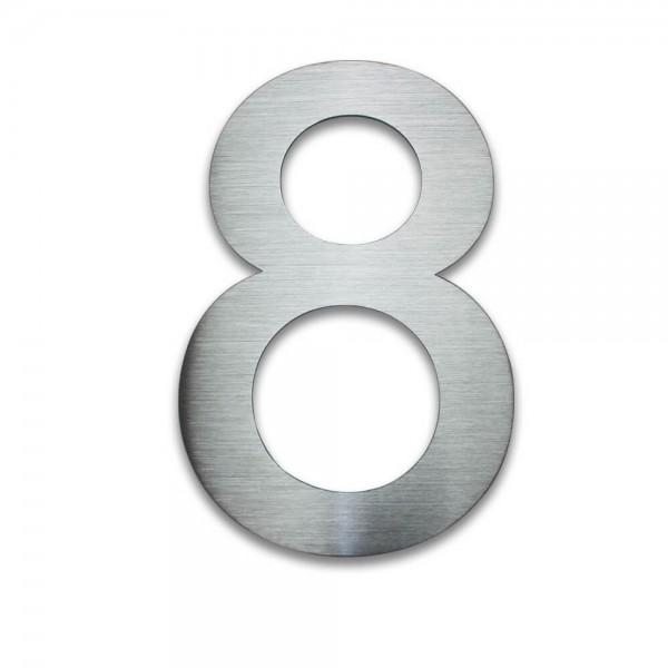 Hausnummer Edelstahl 8