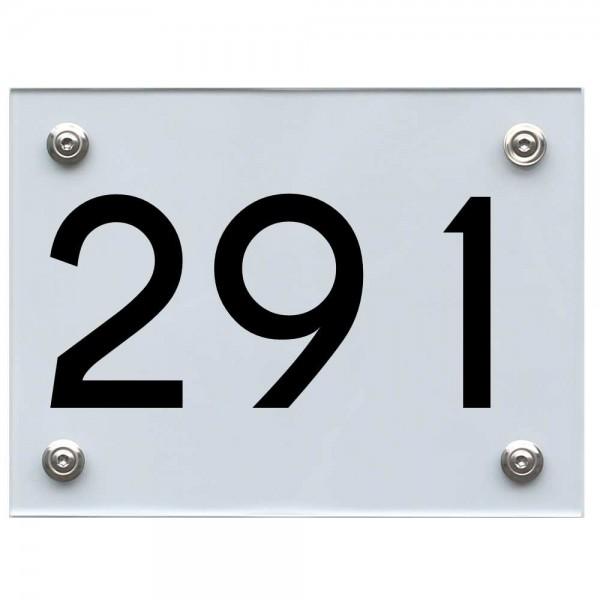 Hausnummernschild 291 schwarz