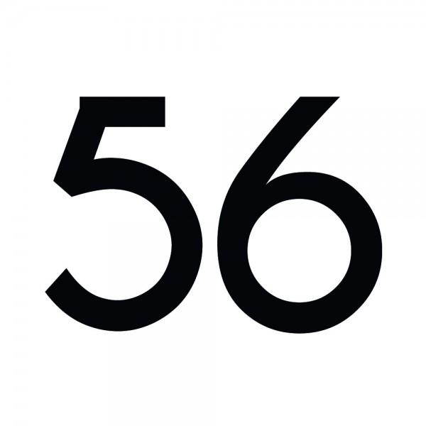 Zahlenaufkleber 56 schwarz