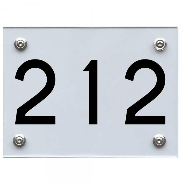 Hausnummernschild 212 schwarz