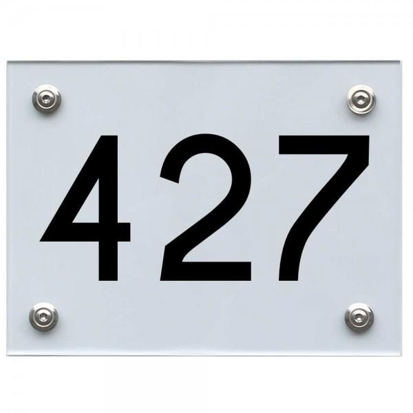 Hausnummernschild 427 schwarz