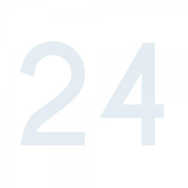 Zahlenaufkleber 24 weiß