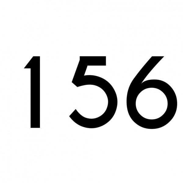 Hausnummer Aufkleber 156 schwarz