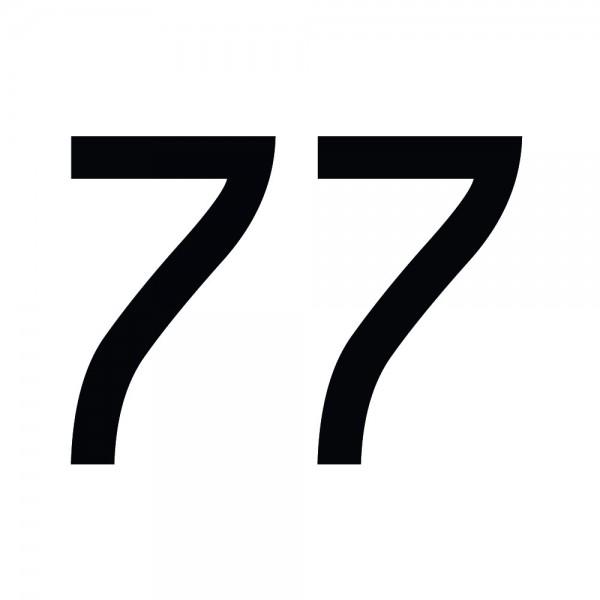 Zahlenaufkleber 77 schwarz