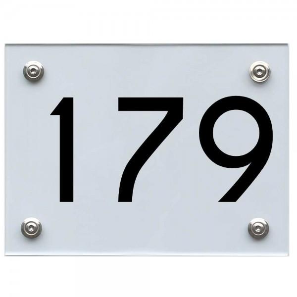 Hausnummernschild 179 schwarz