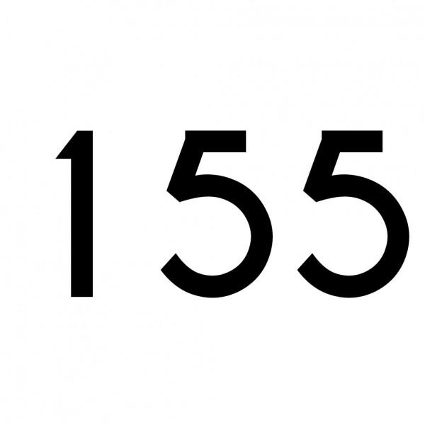 Hausnummer Aufkleber 155 schwarz