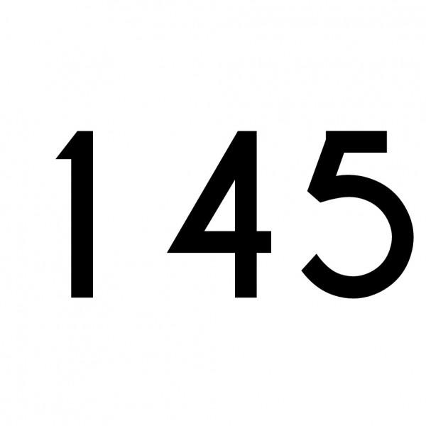 Hausnummer Aufkleber 145 schwarz